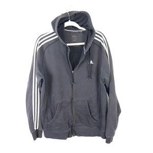 Adidas hoodie track jacket black large U4